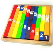 Ahşap Gökkuşağı Sayı Blokları -8